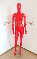 Манекен женский лакированный красный, фото 1