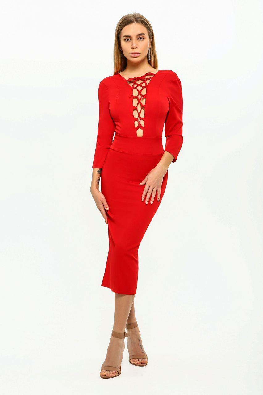 Сукня жіноча AniTi зі шнурівкою міді 105, червоний