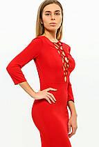 Сукня жіноча AniTi зі шнурівкою міді 105, червоний, фото 3