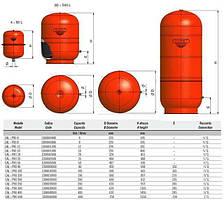 Бак Zilmet  cal-pro для систем отопления  12л 4bar кругл.