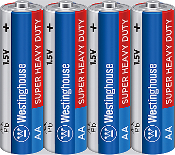 Батарейка солевая Westinghouse AA/R6 4 шт (пальчиковые)