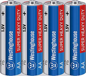 Батарейка солевая Westinghouse AA/R6 4 шт (пальчиковые), фото 2