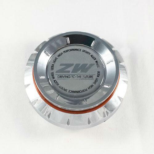 Колпачок в легкосплавные диски ZW хром конус/серый лого (57-64 мм)
