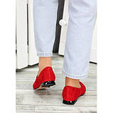 Туфли лодочки красная натуральная замша, фото 3