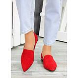 Туфли лодочки красная натуральная замша, фото 4