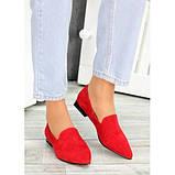 Туфли лодочки красная натуральная замша, фото 5