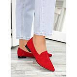 Туфли лодочки красная натуральная замша, фото 2