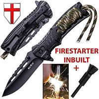 Нож складной с огнивом, полуавтоматический 6772 PBCF