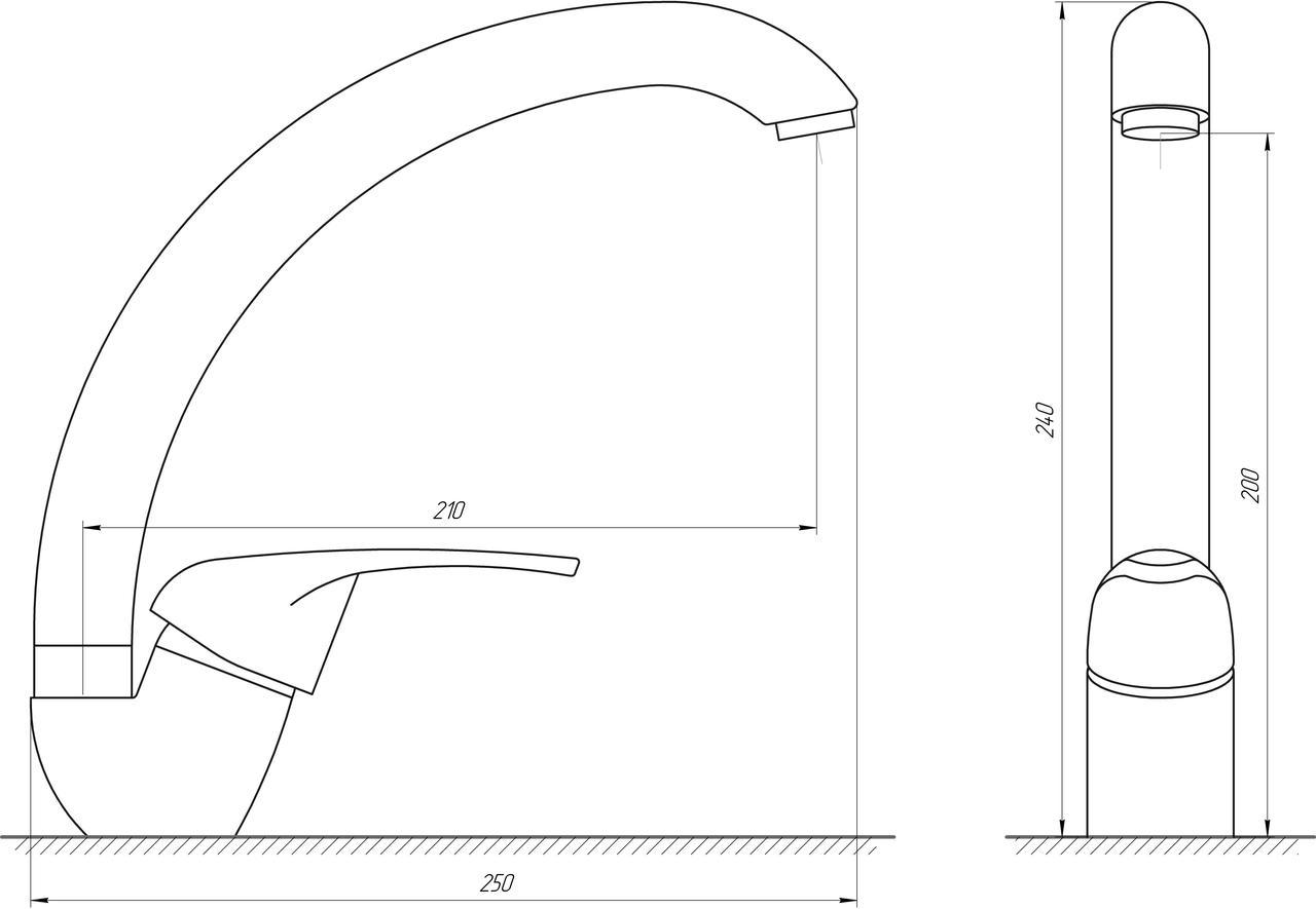 Змішувач для кухні Globus Lux GLSO-0203S-5-TERRA