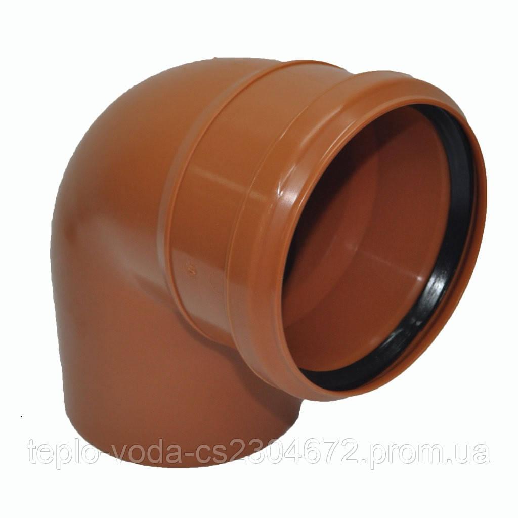 Колено ПВХ 200х67 для канализации