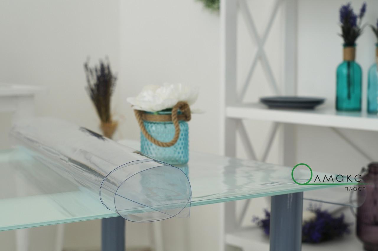 Мягкое стекло на стол, прозрачное покрытие для защиты деревяной и стекляной мебели,ширина 60см