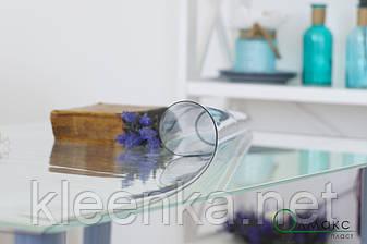 Мягкое стекло на стол, прозрачное покрытие для защиты деревяной и стекляной мебели,ширина 60см, фото 2