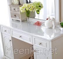 Мягкое стекло на стол, прозрачное покрытие для защиты деревяной и стекляной мебели,ширина 60см, фото 3