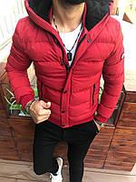 Чоловіча куртка червона Skor 10 3036