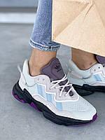 Adidas Ozweego кросівки унісекс світлі. Жіноче взуття Адідас Озвиго різнокольорові. Кросівки жіночі Адідас