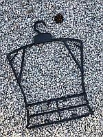 Пластиковая детская чёрная рамка вешалка ширина 30см для детской одежды, фото 1