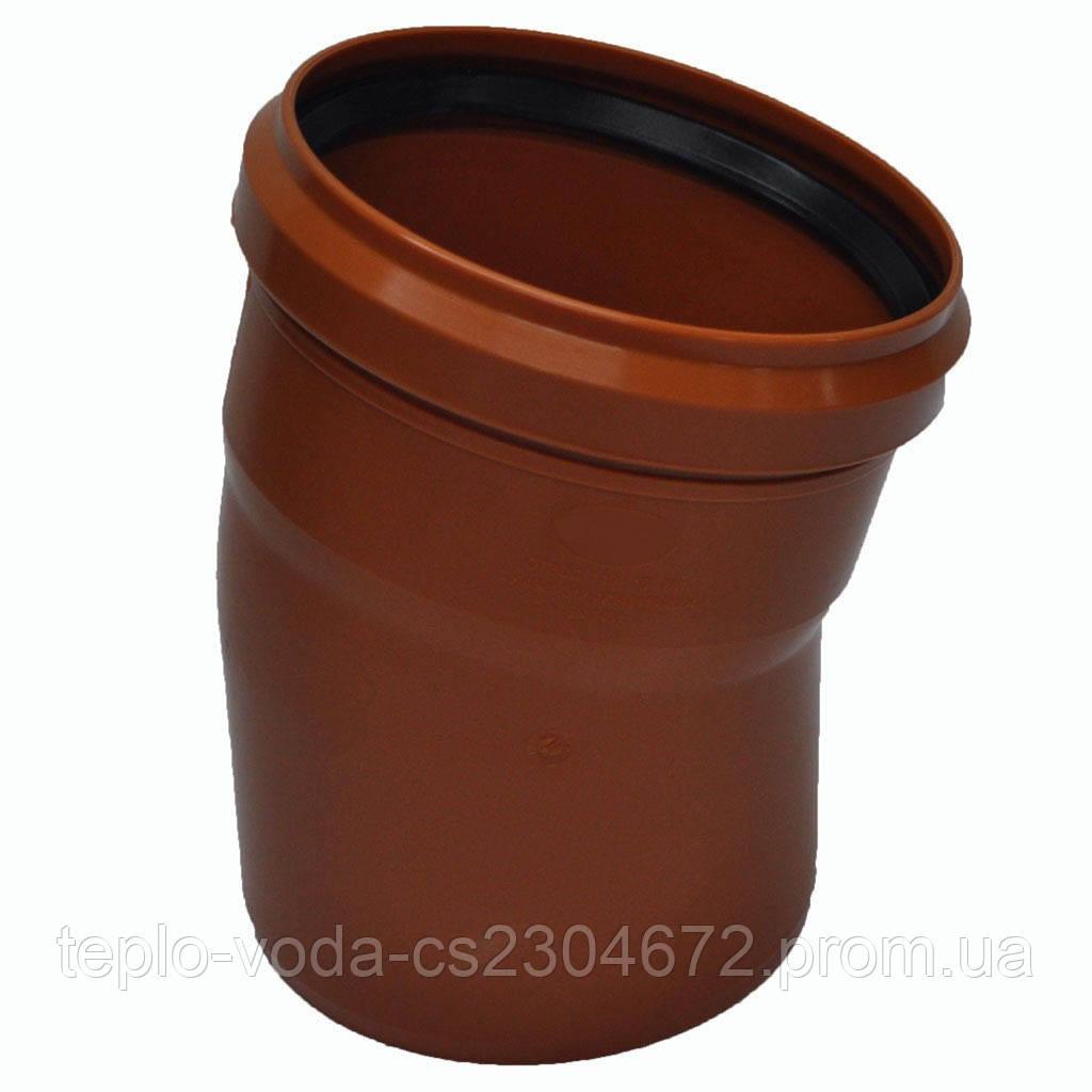 Колено ПВХ 315х15 для канализации