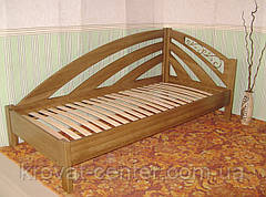 """Кровать односпальная из серии """"Радуга"""". Массив - ольха, береза, дуб., фото 3"""