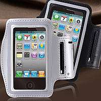 Армбенд, спортивный чехол Iphone 4 4G 4S, серый