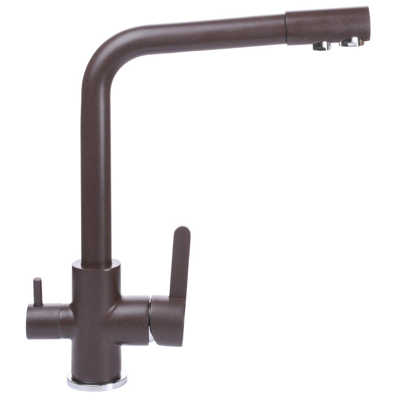 Смеситель для кухни под осмос Globus Lux GLLR-0444-6-MARONE