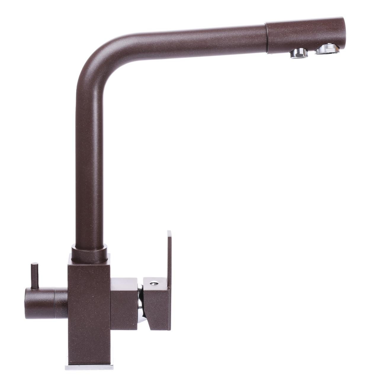 Смеситель для кухни под осмос Globus Lux GLLR-0100-6-MARONE