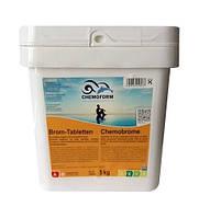 Brom-Tabletten 5кг. Средство для дезинфекции воды в бассейне на основе активного брома