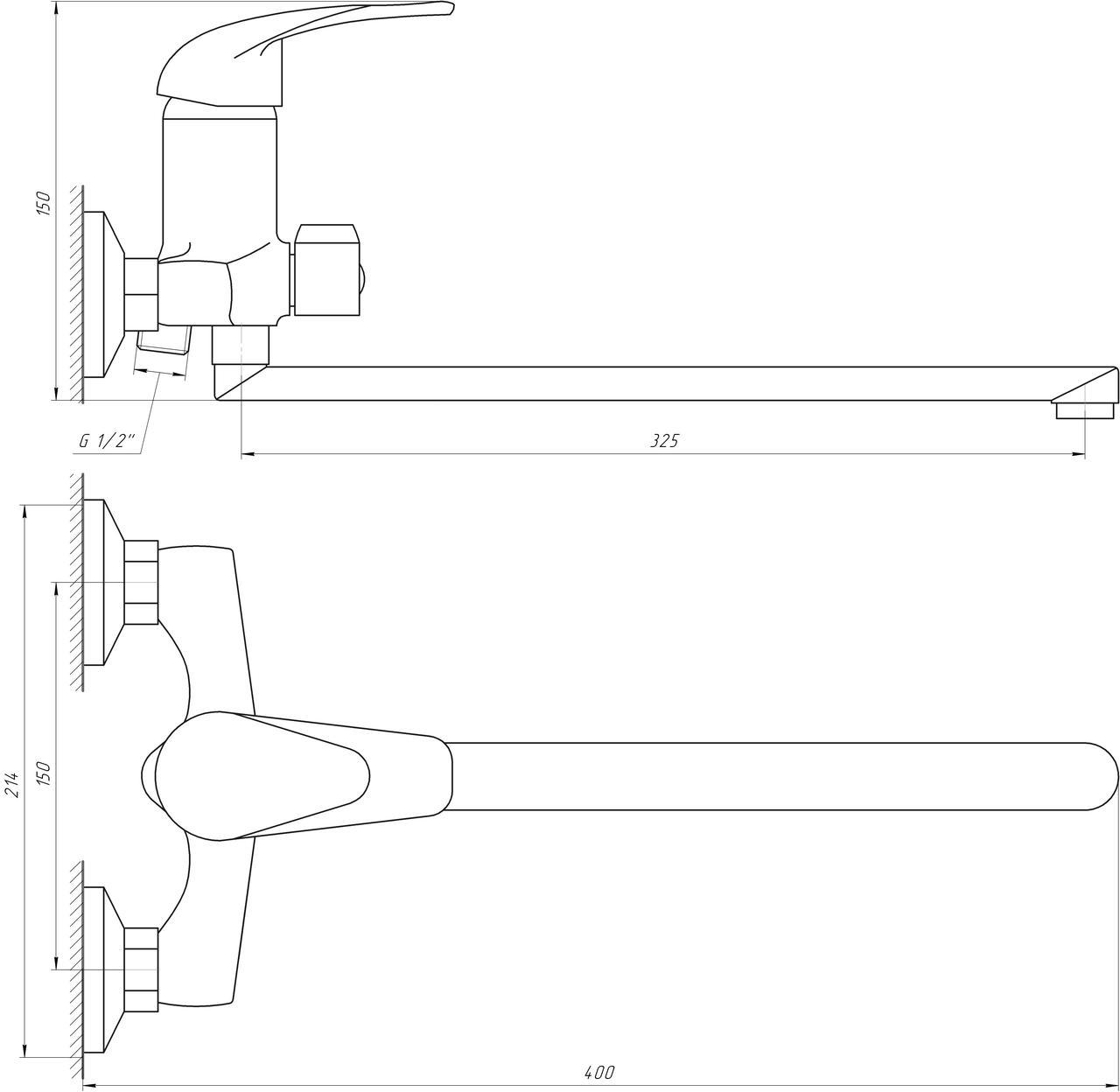 Смеситель для ванны EcoMix E-GEZ-208