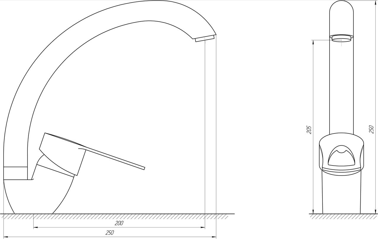 Смеситель для кухни DOMINO SIRIUS DSV-203S-St STEEL