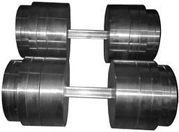 Гантели 2 по 50 кг разборные металл (металеві гантелі розбірні наборні наборные для дома металлические)
