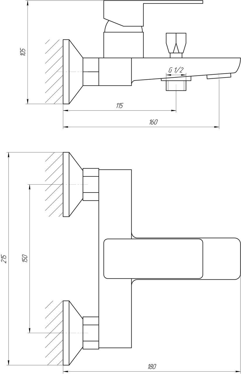Смеситель для ванны Globus Lux Milano GLM-102