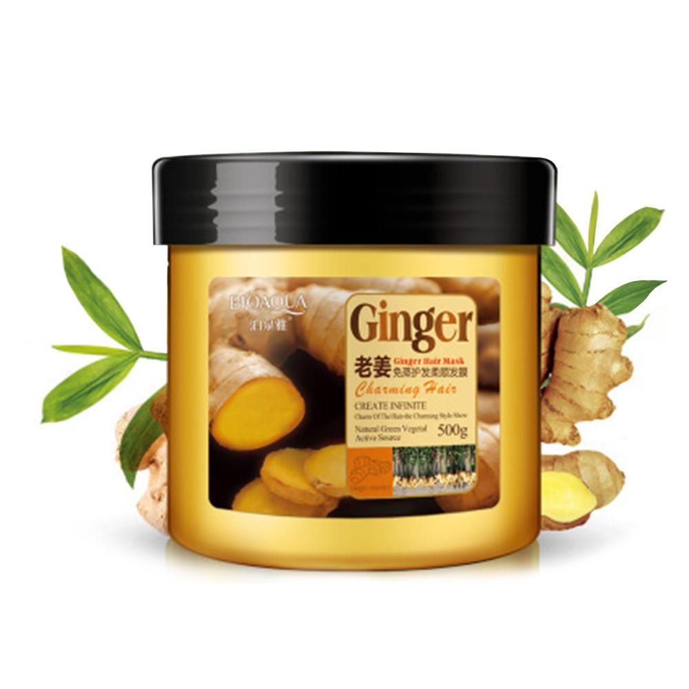 Купить Маска для волос с имбирем BIOAQUA Ginger Hair Mask укрепляющая 500 г (4589-13453a)