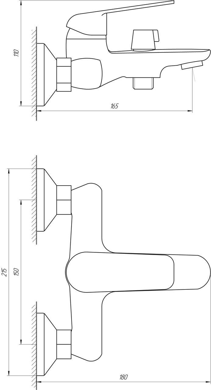 Смеситель для ванны Globus Lux Koln GLK-102N