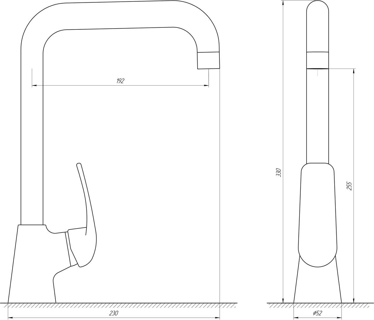 Смеситель для кухни Globus Lux Koln GLK-203L