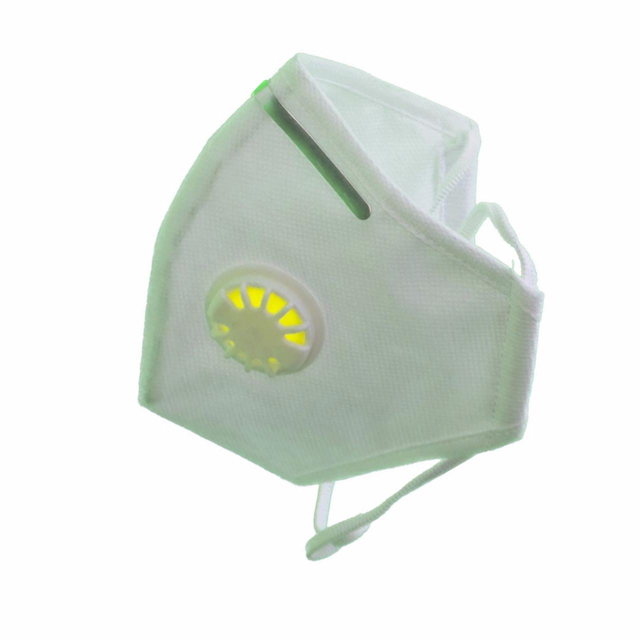 3 шт. Респиратор Славия ffp3 с клапаном и зажимом, белый, 3 шт
