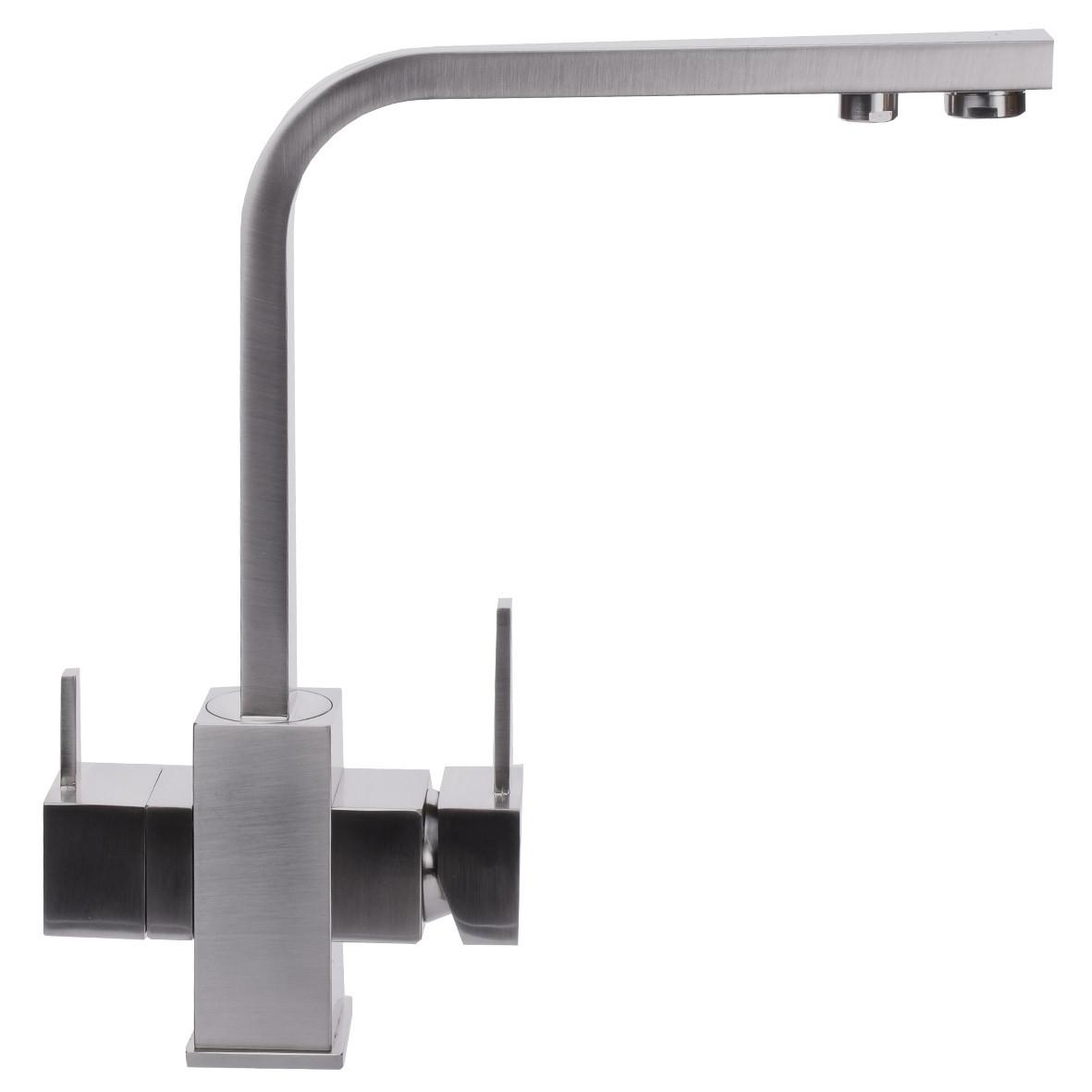 Смеситель для кухни под осмос Globus Lux GLLR-0111-8-STSTEEL