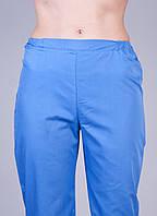"""Медицинские брюки голубые """"Health Life"""" батист"""