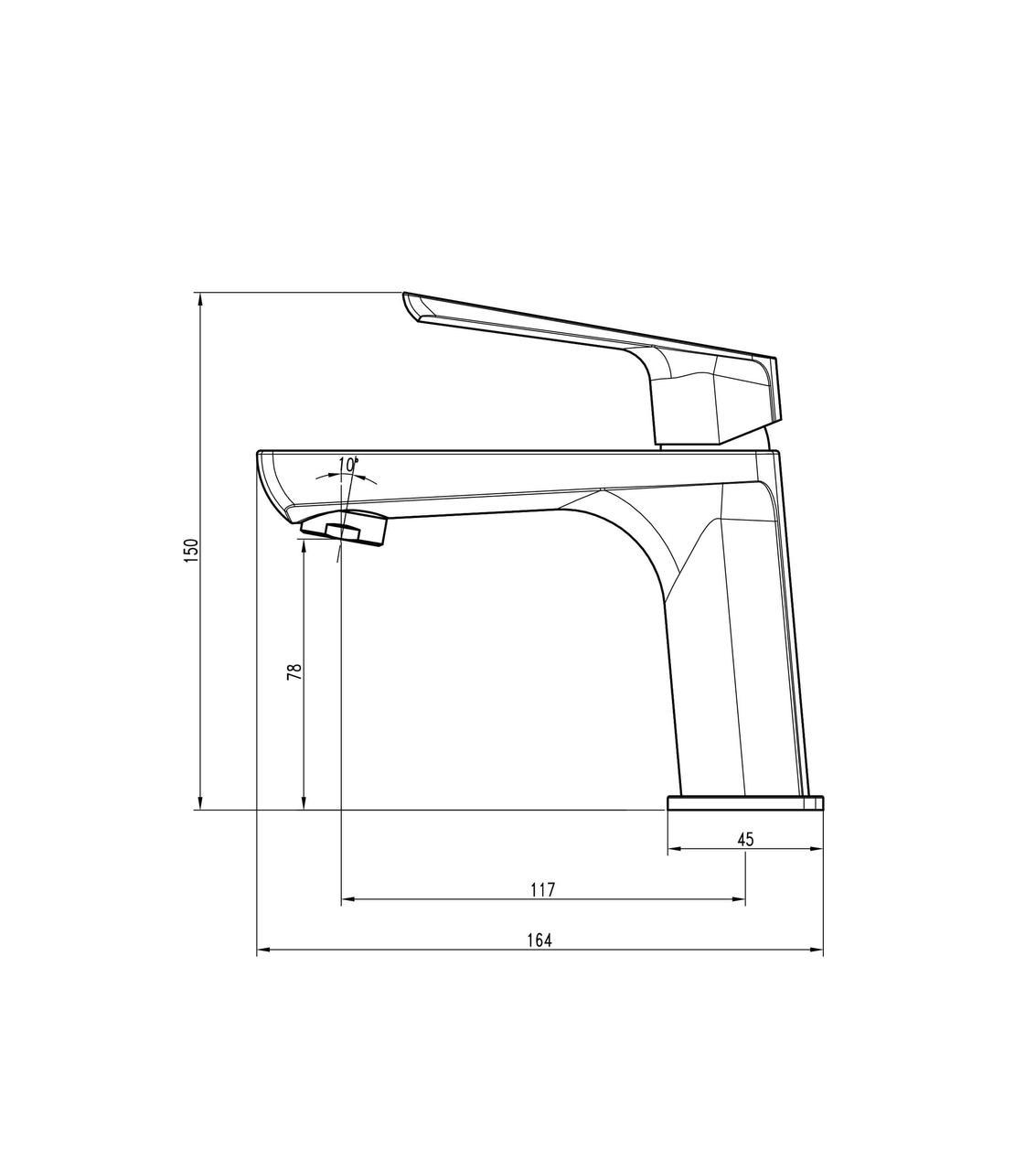Смеситель для умывальника TOPAZ LEXI TL 21201-H57-GB