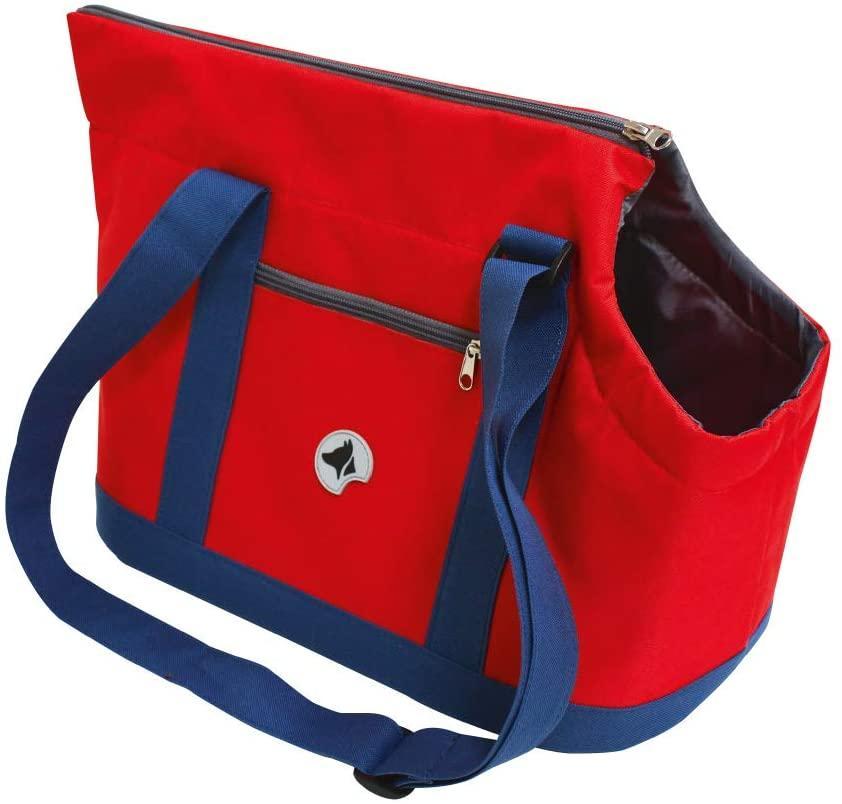 Сумка для тваринного Giselle, синій/червоний, 49х23х31см
