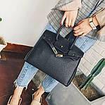 Женская сумка, экокожа PU (чёрный), фото 2
