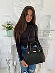 Женская сумка, экокожа PU (чёрный), фото 3