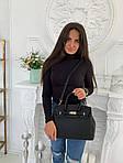 Женская сумка, экокожа PU (чёрный), фото 6