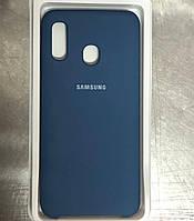 "Чехол на Samsung A 20 №20 ""Синий кобальт"""