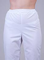"Медицинские брюки белые ""Health Life"" батист"