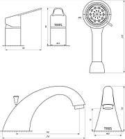 Смеситель для ванны TRES BM 139145, фото 1