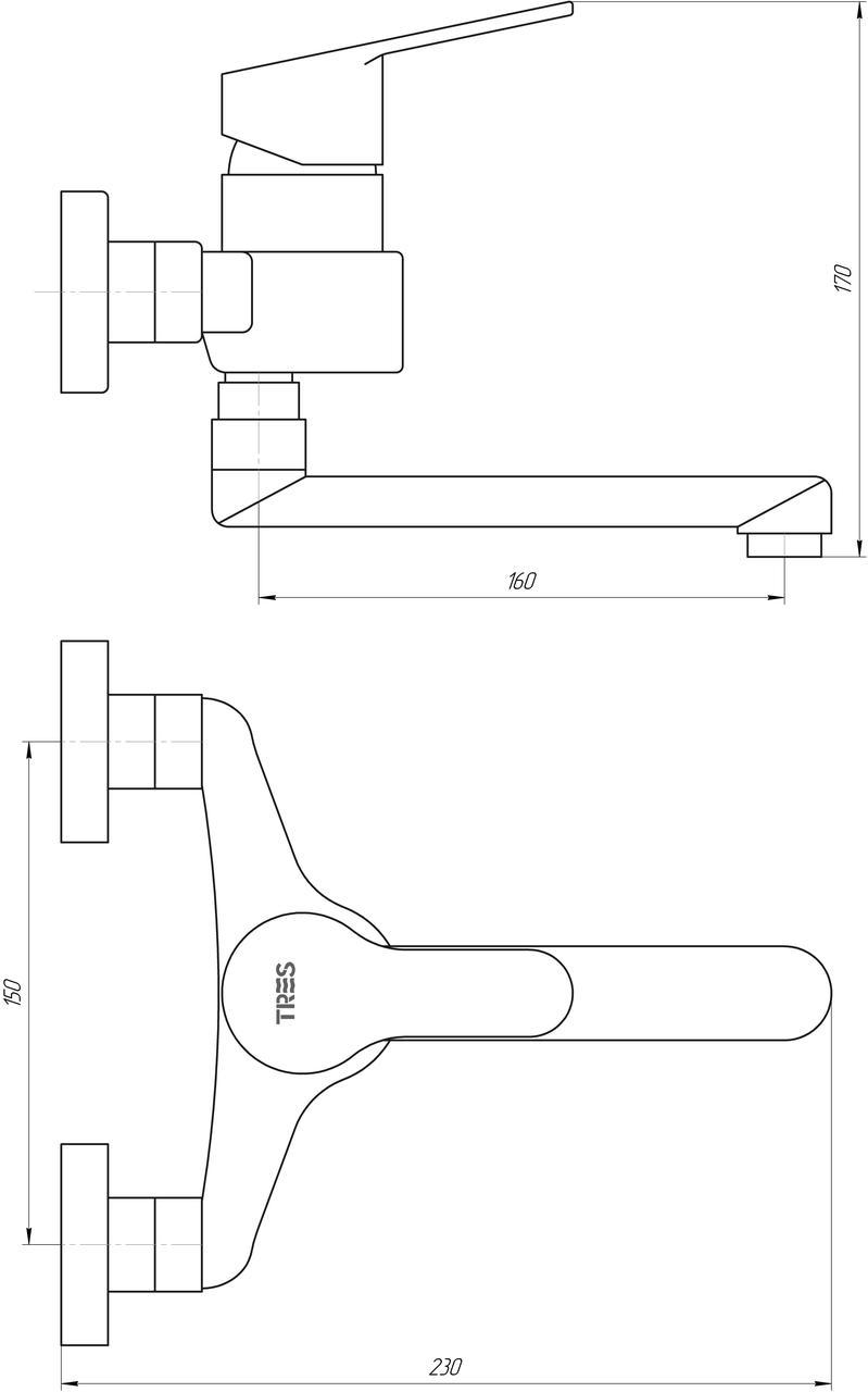 Смеситель для кухни TRES BM 139320