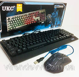 Клавиатура игровая с мышкой Zeus M-710 с подсветкой