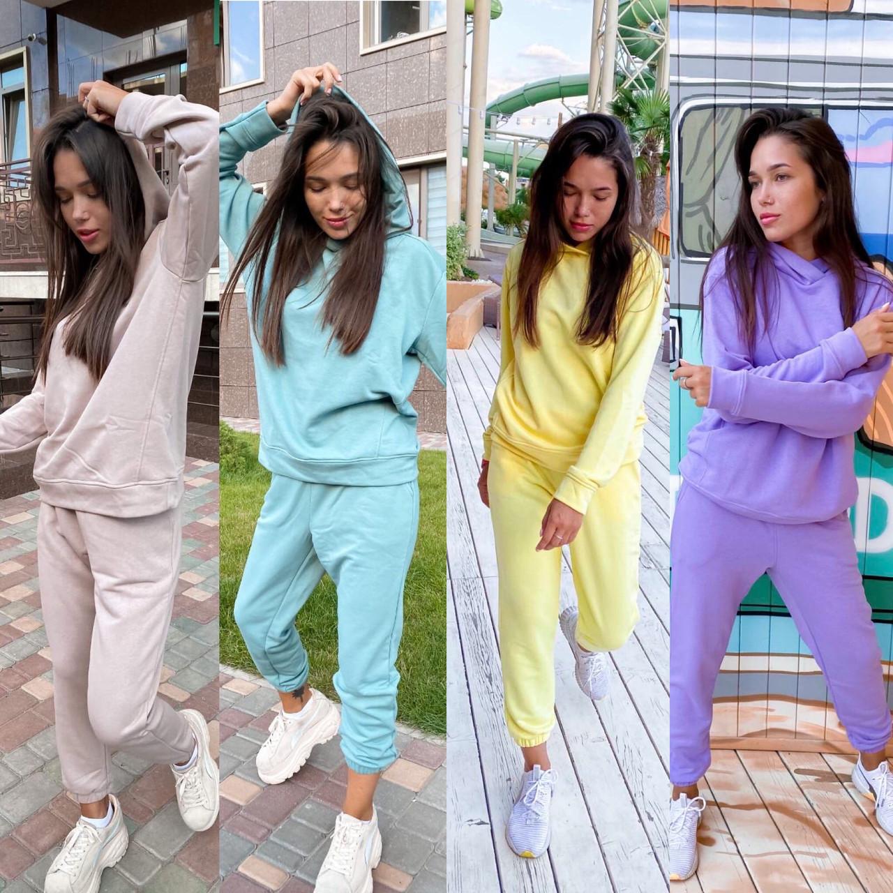 Костюм женский спортивный молодежный, высокое качество, стиль оверсайз, разные цвета р.хs, s, м, л Код 017И