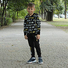 Спортивный костюм для мальчика Чёрный Турция  р. 110, 116, 128