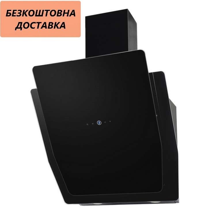 Витяжка Ventolux COMO 60 BK (1000) TRC MM Похила Чорна Скло