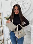 Женская сумка 2в1, экокожа PU (серый), фото 4